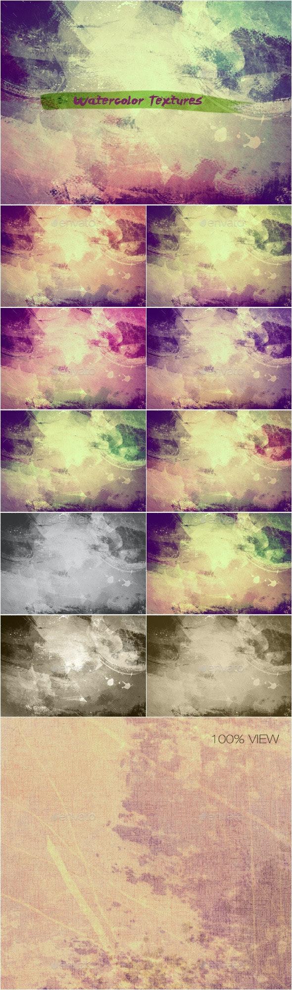 Watercolor Textures Set_6 - Industrial / Grunge Textures