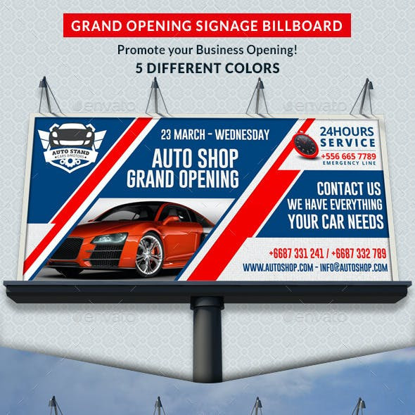 Agency & Shop Grand Opening Signage Billboard