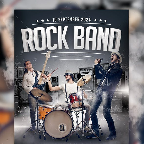 Rock Band Concert Flyer Template