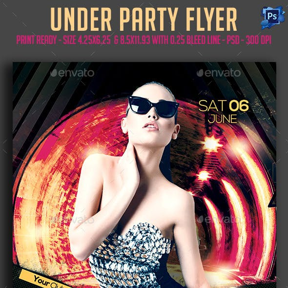 Under Party Flyer