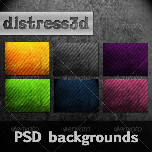 Distress3d Background Pack - Backgrounds Graphics