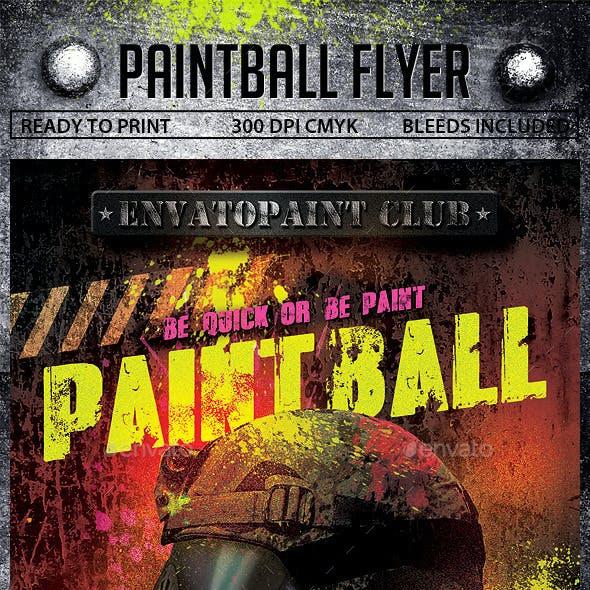 Paintball Flyer