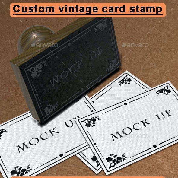 Custom Vintage Card Stamp
