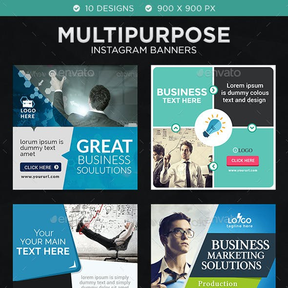 Business Instagram Templates - 10 Designs