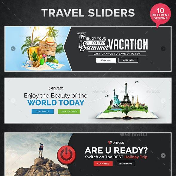 Travel Sliders - 10 Designs