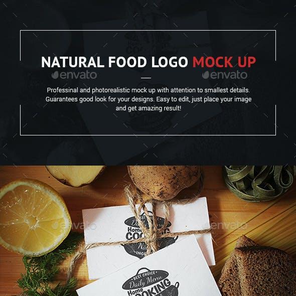 Natural Food Logo Mock-Up