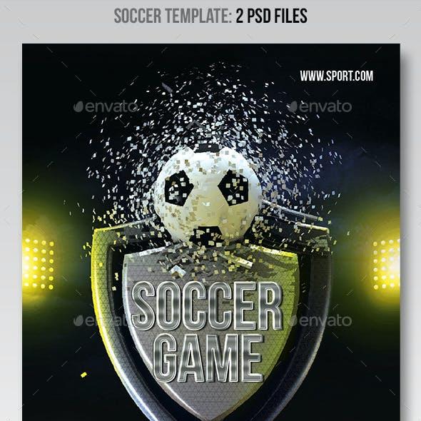 Soccer 3D Flyer template