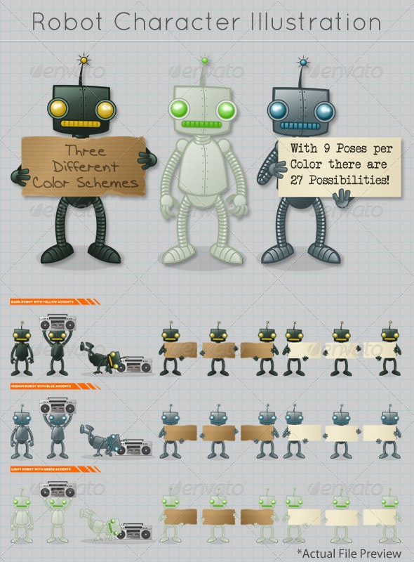 Robot Character/Mascot Illustration - Miscellaneous Characters