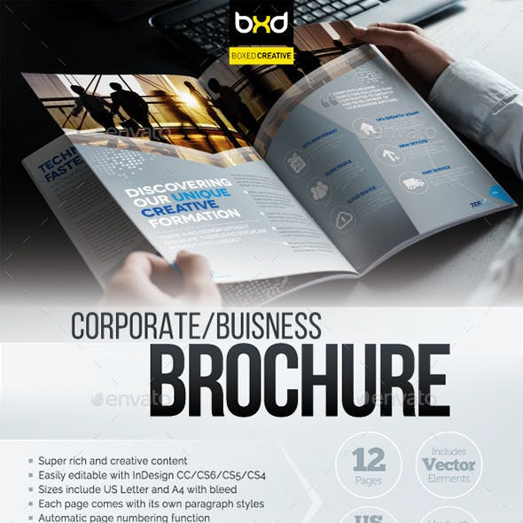 Brochure Template - InDesign 12 Page Layout 07