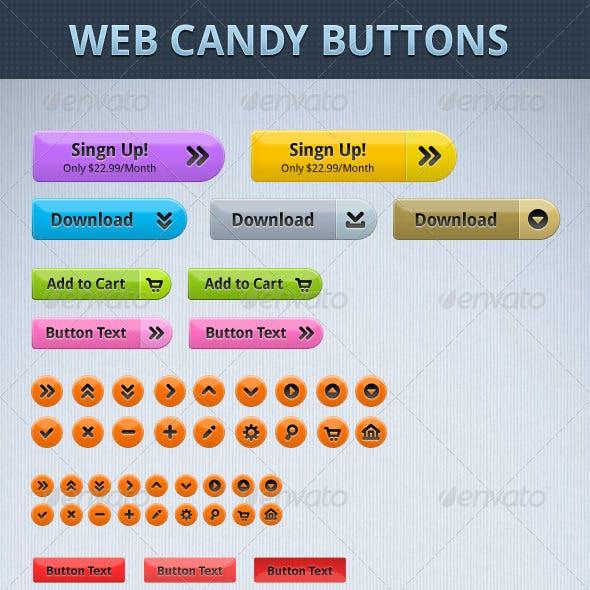 Web Candy Button set