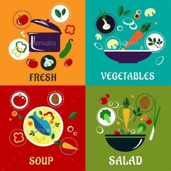 Cooking Concept With Vegetables And Ingredients - Food Objects