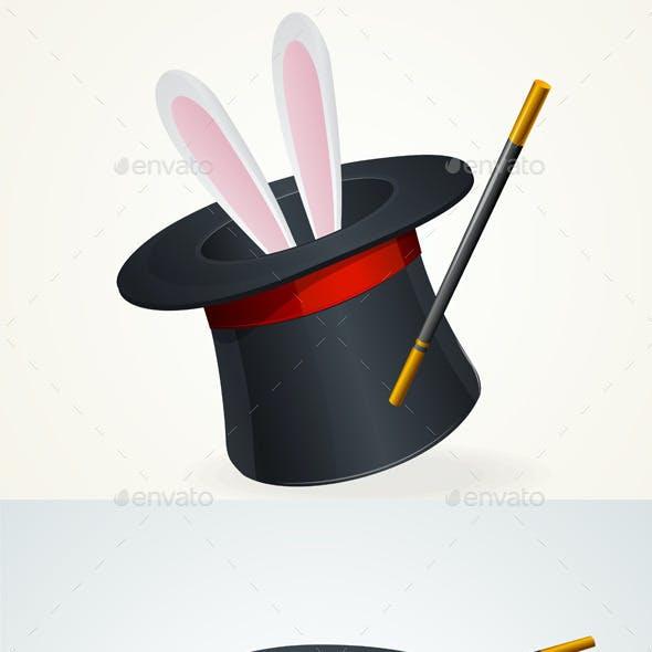 Vector Black Top Hat Set