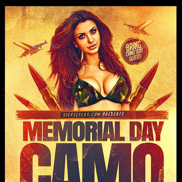 Memorial Day Camo Party Flyer