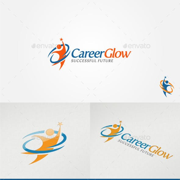 Career Glow Motivative Logo