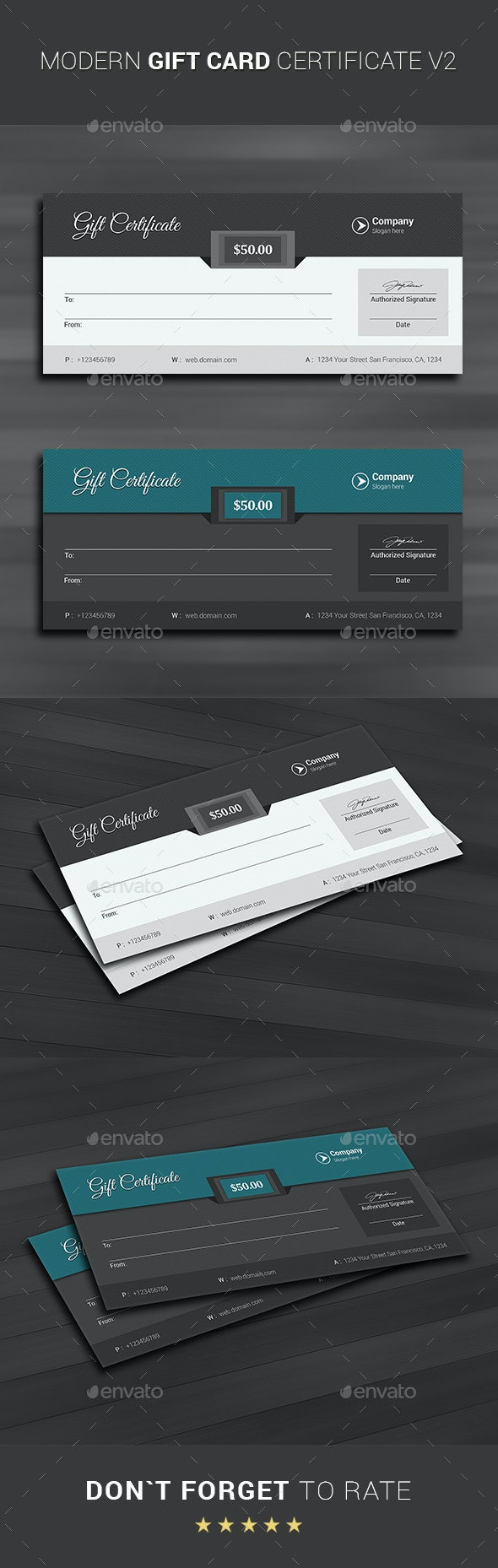 Gift Card Certificate - Cards & Invites Print Templates