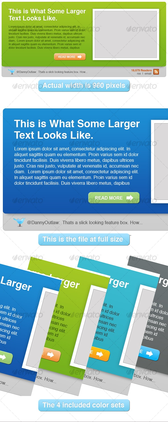 Feature Boxes Modern Style - Web Elements
