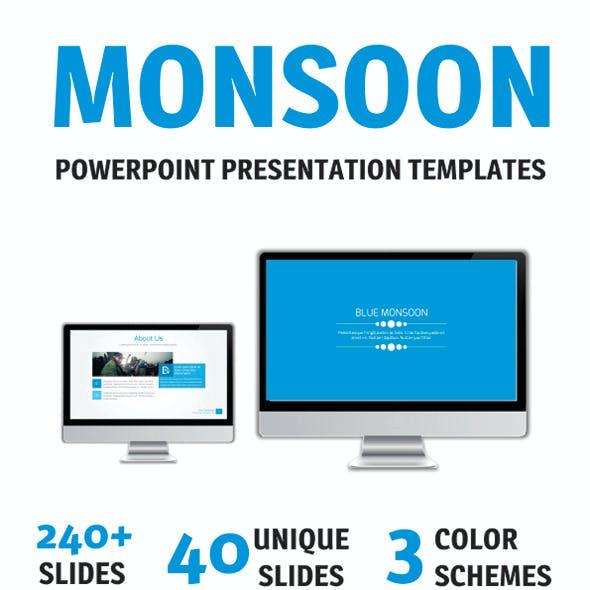 Blue Monsoon PowerPoint Template