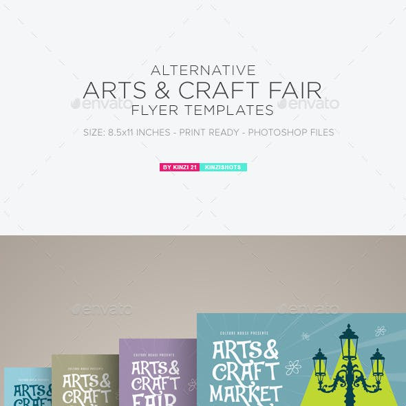 Arts & Craft Fair Flyer Templates