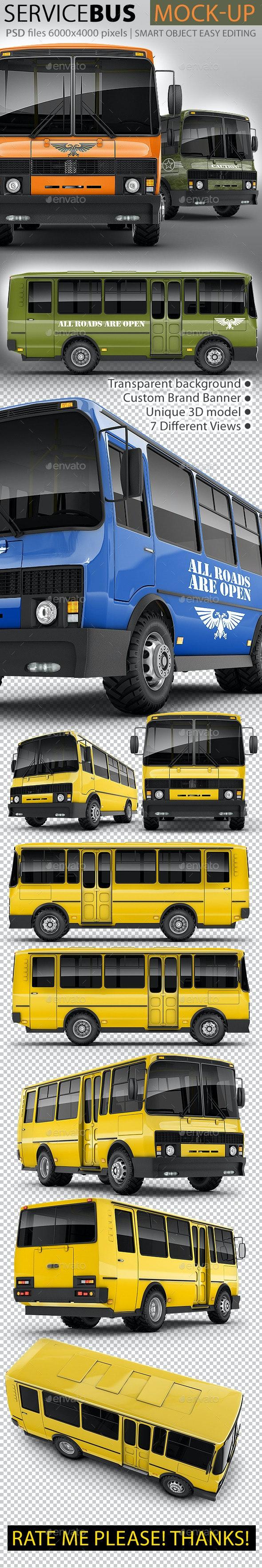 Service Bus Mock-up - Vehicle Wraps Print