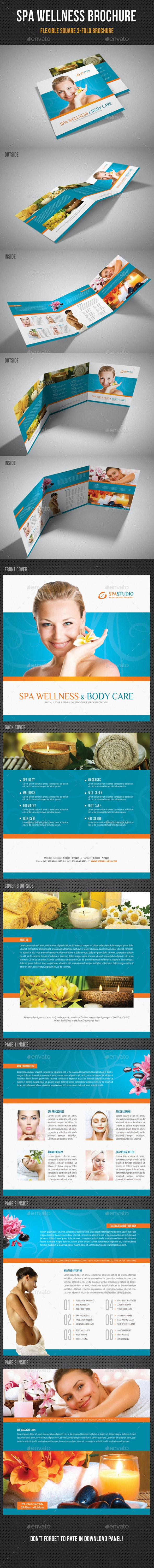 Spa Wellness Square 3-Fold Brochure 01 - Corporate Brochures