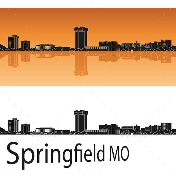 Springfield Skyline in Orange