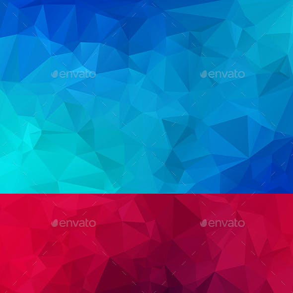 10 Polygon Backgrounds Vol.1