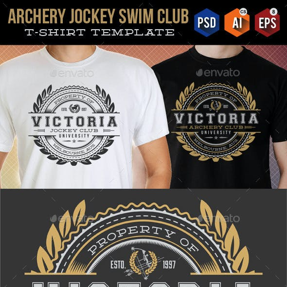 Archery Jockey Swim Club T-Shirt Templates