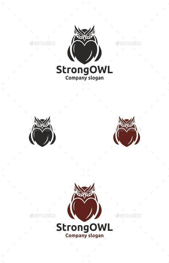 Strong Owl - Animals Logo Templates