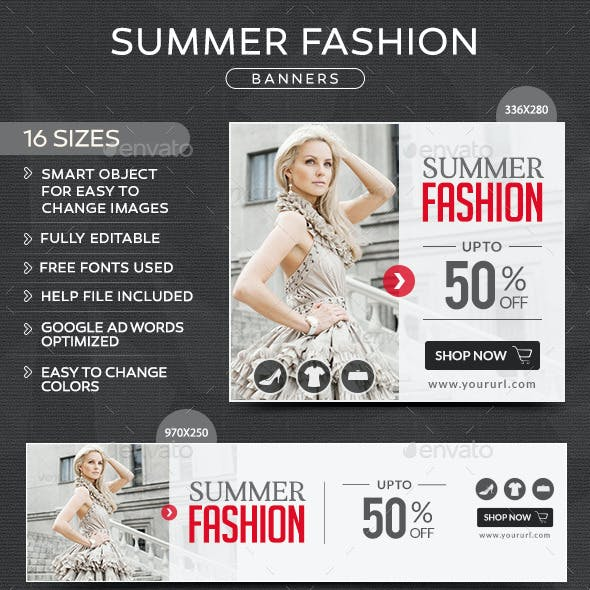 Summer Fashion Banners