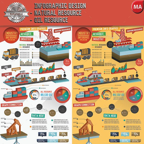Natural resource & Oil industry infographic design