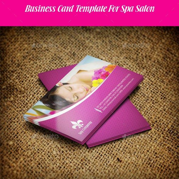 Business Card For Spa Salon