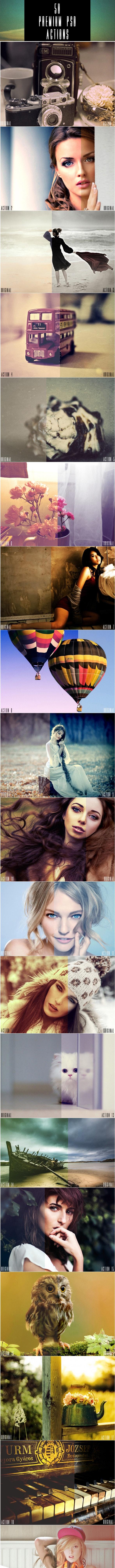 50 Premium Photoshop Actions - Photo Effects Actions