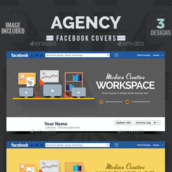 Agency Facebook Covers -  3 Designs