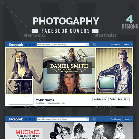 Photography Facebook Covers - 4 Designs