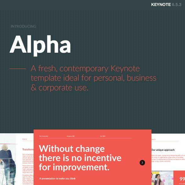 Alpha Keynote Template
