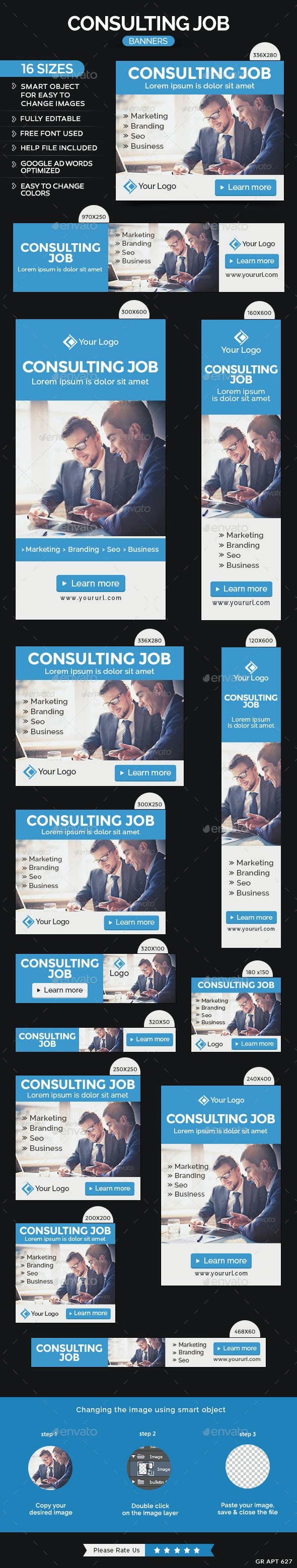 Consulting Banners - Banners & Ads Web Elements