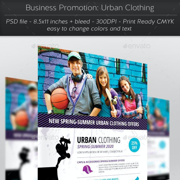 Business Promotion: Urban Clothing