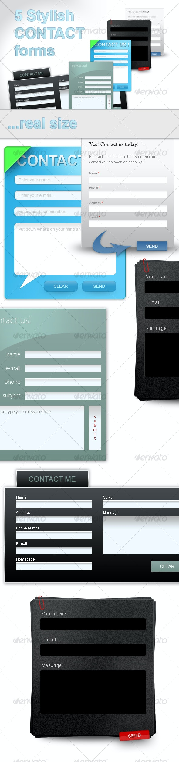 5 stylish web 2.0 contact forms. - Forms Web Elements