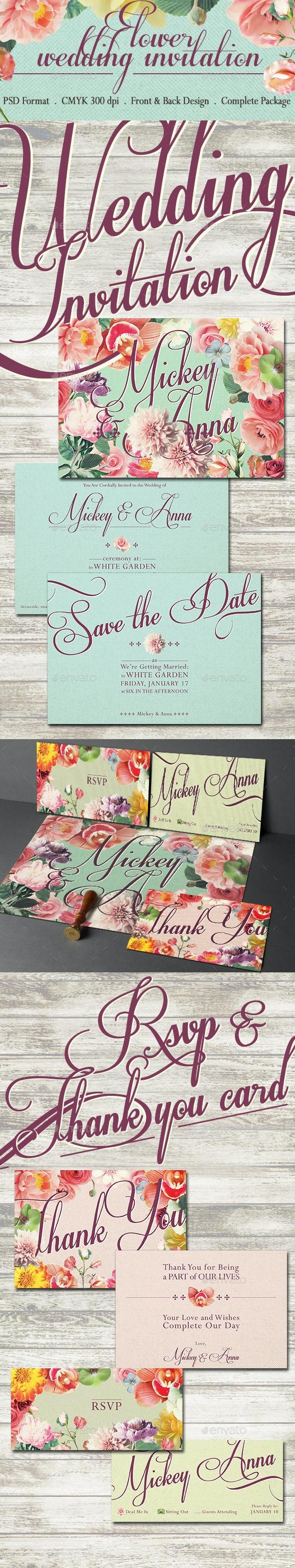 Sweet Flower Wedding Invitation - Weddings Cards & Invites