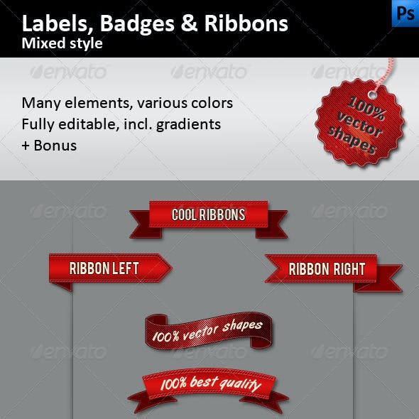 Labels, Badges and Ribbons