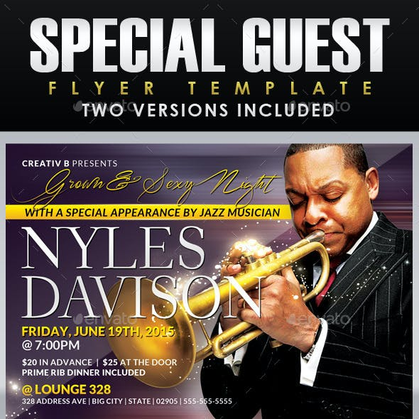 Special Guest Flyer Template