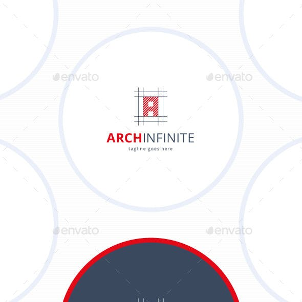 Arch Infinite Logo • Letter A
