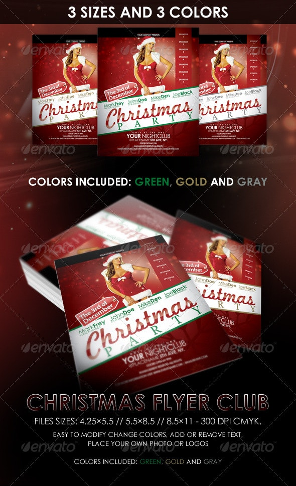 Christmas Night Club Flyer - Clubs & Parties Events