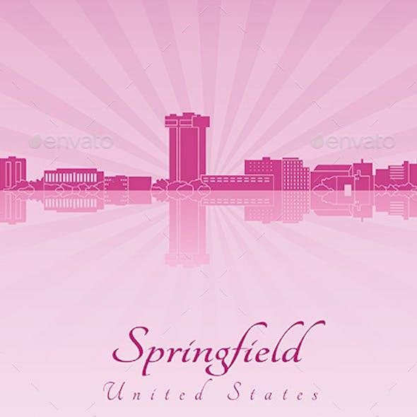 Springfield Skyline in Purple Radiant Orchid