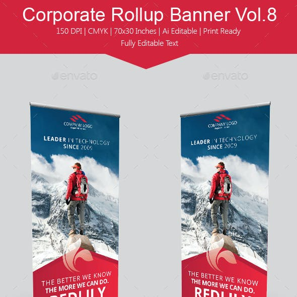 Corporate Rollup Banner Vol.8