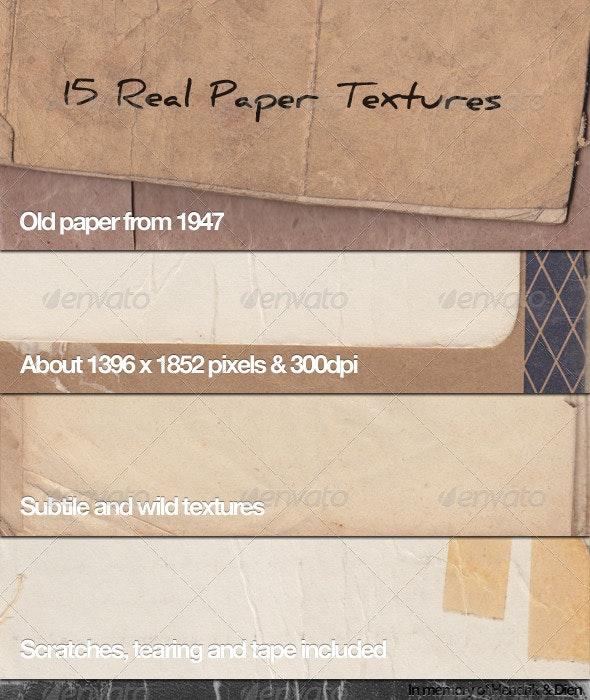 15 Old Paper Textures - Paper Textures