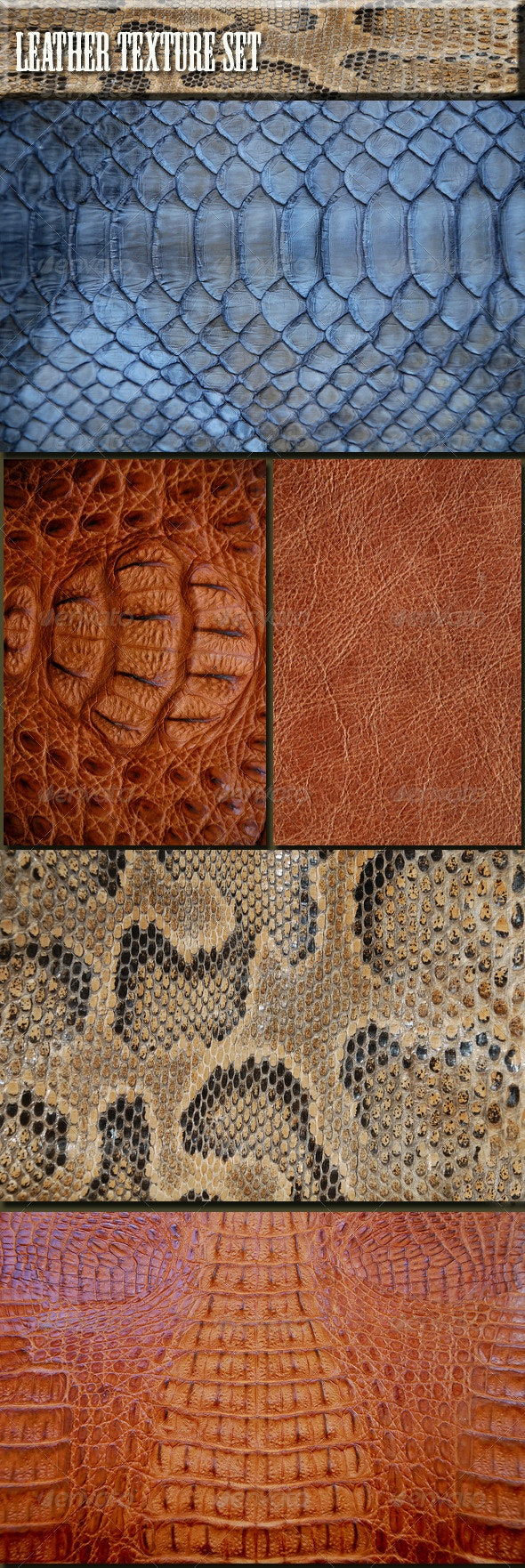 Texture Leather Set - Nature Textures
