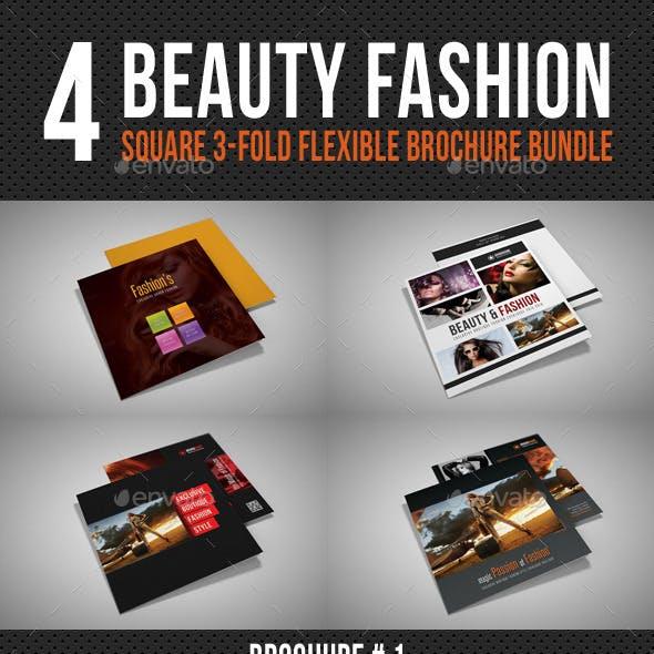 4 Beauty Fashion Square 3-Fold Brochure Bundle