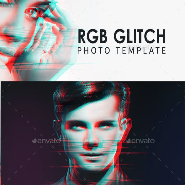 RGB Glitch Photo Template