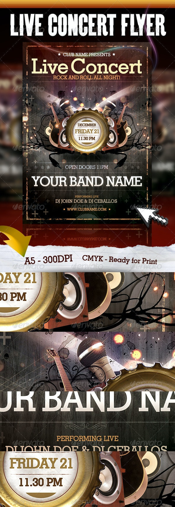 Live Concert Flyer - Concerts Events